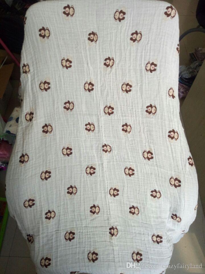 Mantas de bebé Fox Muslin Cotton Flamingo Bee Swaddles Recién nacido Envoltura Gasa Niños Mantas Infantil Baño Toalla Regalo de Navidad Envío gratis