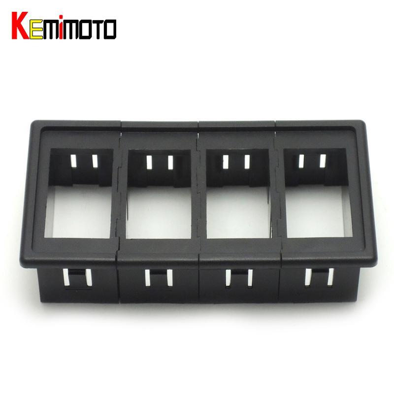 Wholesale- KEMiMOTO Carling Type Black Rocker Switch Clip Panel 4 Position  UTV Switch Housing Button Holder for POLARIS RZR XP 900 900S 800