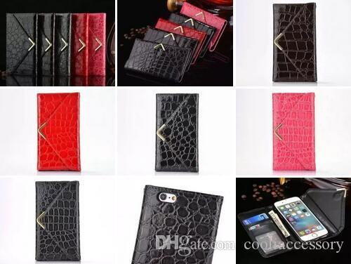 Snake Strap Wallet Leather Pouch Case For Iphone 8 7 I7 6 6S Plus Crocodile Fold Envelope Golden Croco TPU ID Card Photo Money Skin Fashion