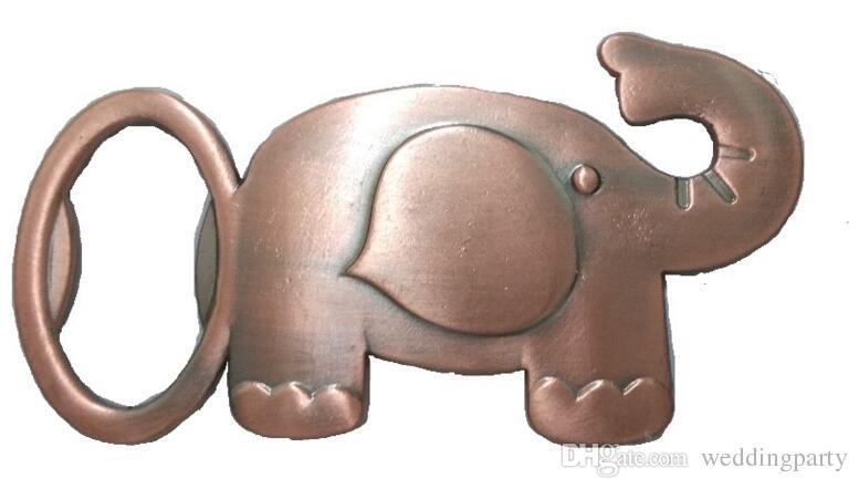Los Glücklicher goldener Elefant-Flaschen-Öffner-Goldhochzeits-Bevorzugungen Party Werbegeschenk-Geschenk für Gast