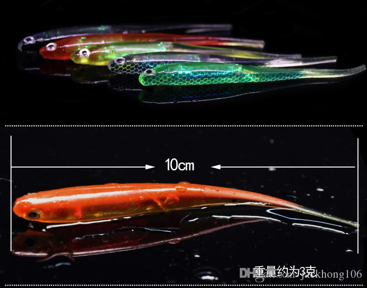 New Arrival Five Colors 10cm Length 3g Vivid 3D Eyes Soft Lure Fishing Swimbait For Freshwater Bass