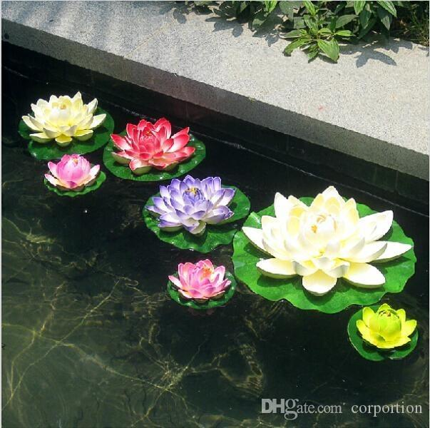 Buy cheap decorative flowers wreaths for big save 29cm diameter buy cheap decorative flowers wreaths for big save 29cm diameter artificial lotus flower floating on the water pool for fish tank decoration white pink mightylinksfo
