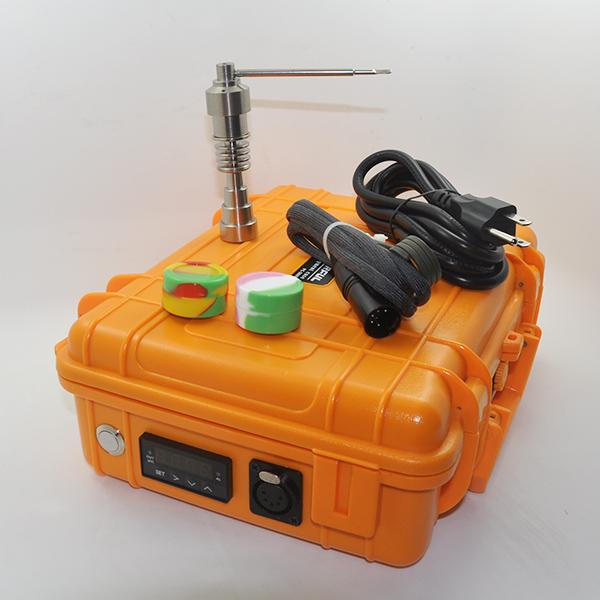 Pas cher Pelic Électrique Dab Nail Box Kit Complet Titanium Nail Carb Cap kit Contrôleur de Température 100w pour Rig Verre D'huile Bongs pipe à eau