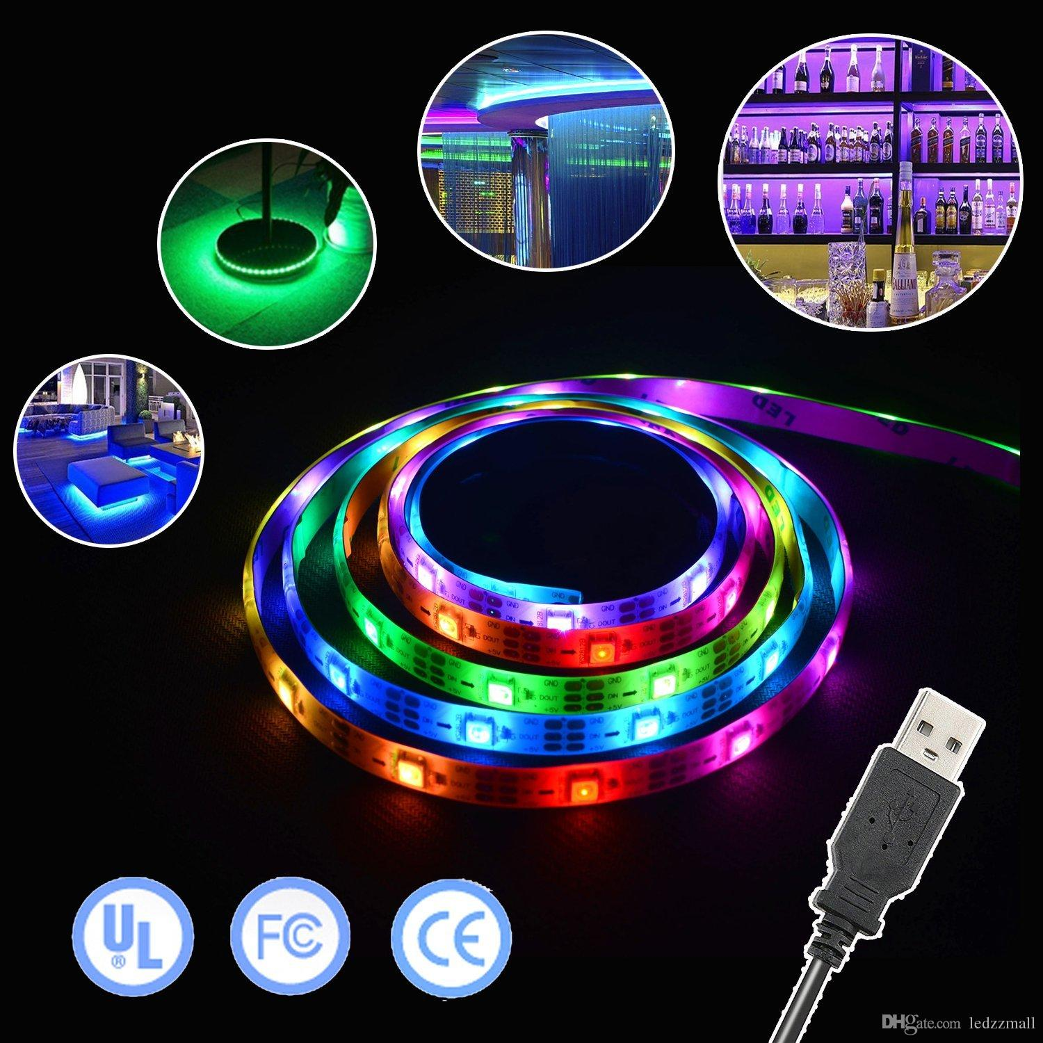 Music led light strip sound activated 2m rgb leds strip kit music led light strip sound activated 2m rgb leds strip kitwaterproof strip lights with remote controller 5v led strip striplights from ledzzmall aloadofball