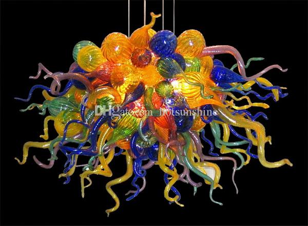 2017 Best Quality Dining Room Lighting Chandeliers 120v 240v Led Bulbs Hot Seller Colorful Blown Glass For Sale From Hotsunshine 70352