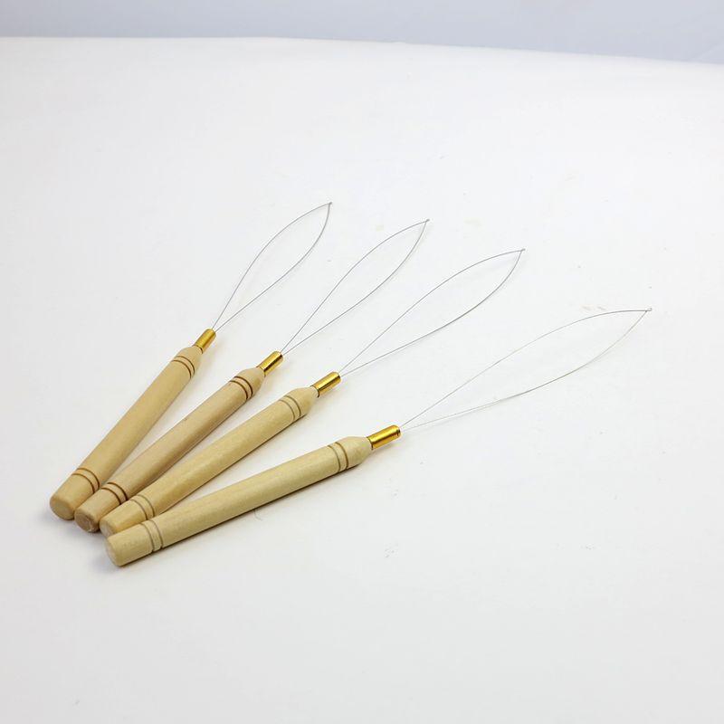 Nadel-Nadel-Threader-Nadeln für Holzhaarverlängerung auf Holzgriffnadeln auf Lager
