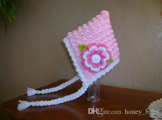 Acquista Beanie Flower Princess Hat Neonate Berretti Invernali