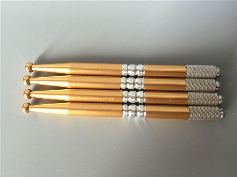 Manual Cosmetic Eyebrow LIps eyeliner Pen Machine For Cosmetics permanent makeup golden colors
