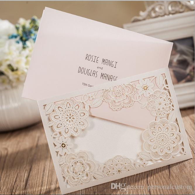 2016 Beautiful Hollow Floral Custom Wedding Invitations Cards Personal Customized  Wedding Suppliers Cards Invitation Formal Cards Free Wedding Invitation ...