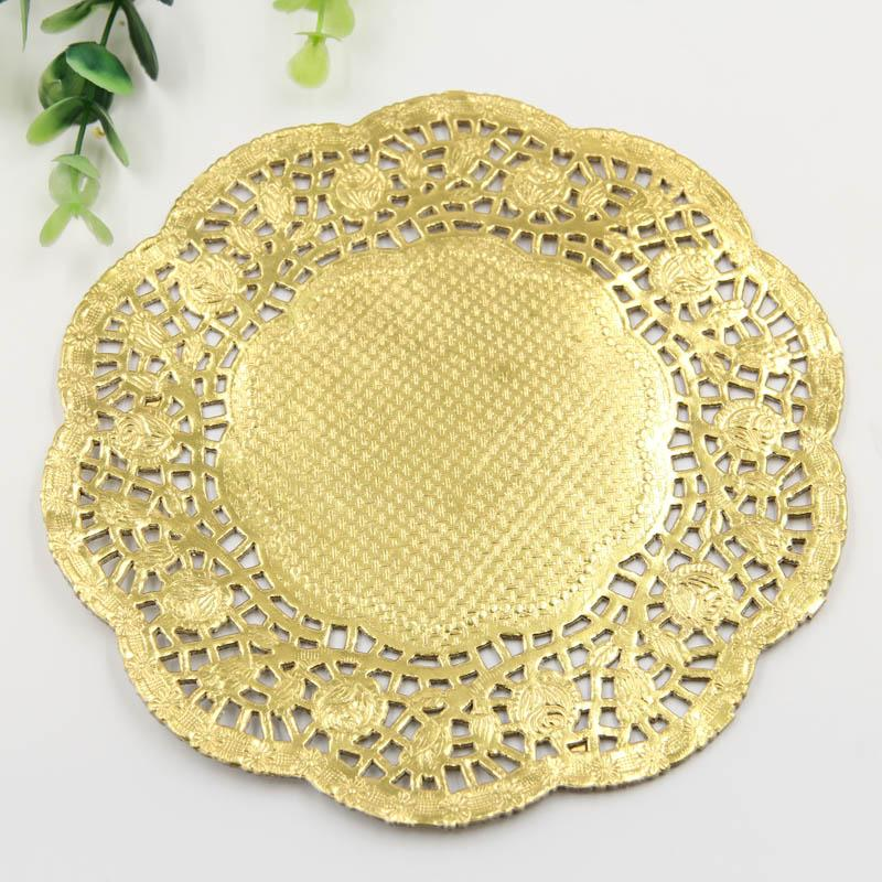 2018 Whole Creative Craft 6 5 Inch Round Gold Paper Lace Doilies Cake Placemat Party Wedding Gift Decoration Pack From Hobarte 35 Dhgate Com