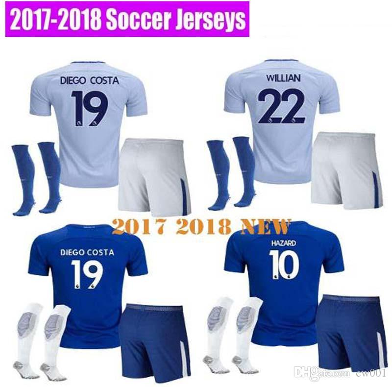 2017 2018 Chelsea Soccer Jersey 17 18 FABREGAS OSCAR HAZARD MIAZGA WILLIAN  Football Shirt TERRY DIEGO COSTA Kit Soccer Jersey Chelsea Jersey Online  with ...