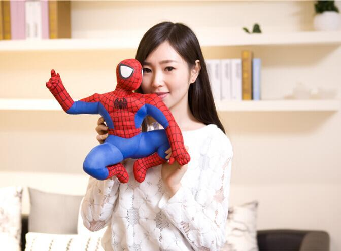 25 cm 1 stück HOHE QUALITÄT neue heiße Marvel Comics artikel Spider-Man film abbildung weiche gefüllte spiderman plüschtier puppe für jungen geburtstag
