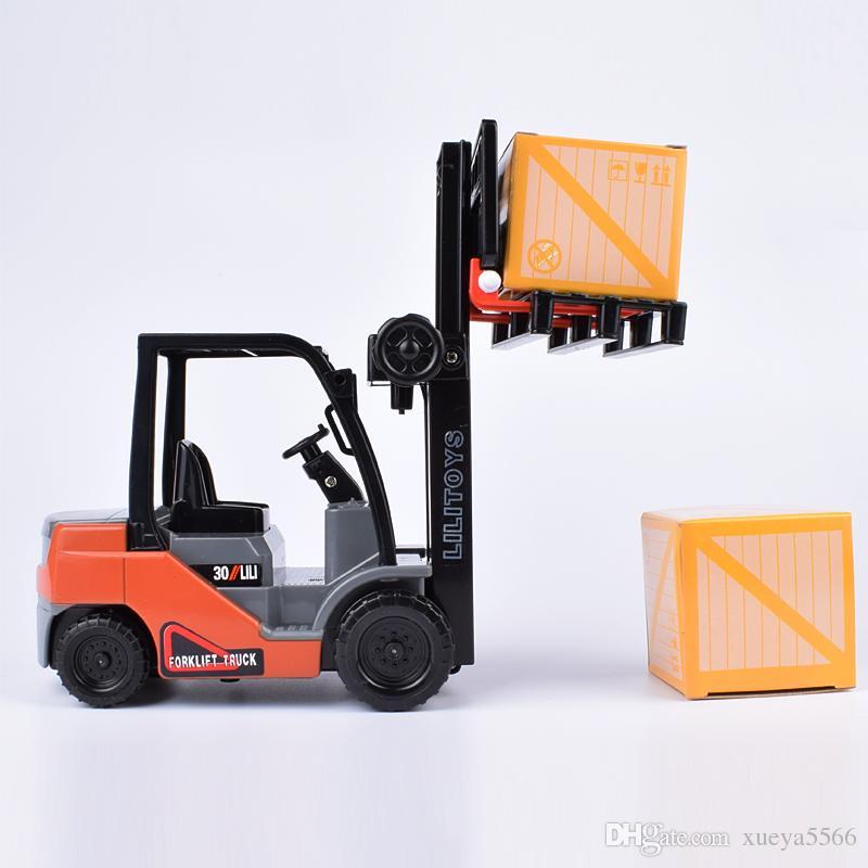 Lili internal combustion forklift forklift truck inertial lift children boy toy car model