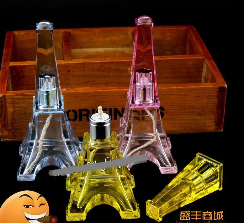 Torre em Paris manchado lâmpada de álcool - tubo de fumar de vidro hookah Gongos de vidro - plataformas de petróleo bongos de vidro tubo de fumar de narguilé de vidro - vap va