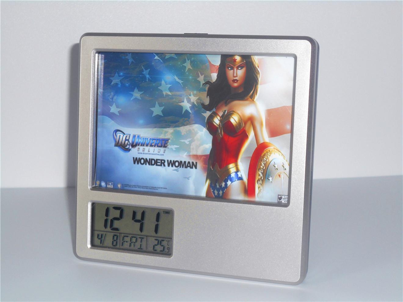 Creative Digital Calendar 2017 new wonder woman creative digital alarm clock multi function