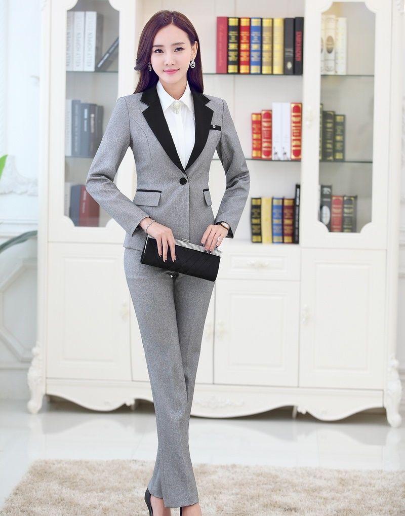 Wholesale-Formal Pantsuits Women Business Suits Formal Office ...