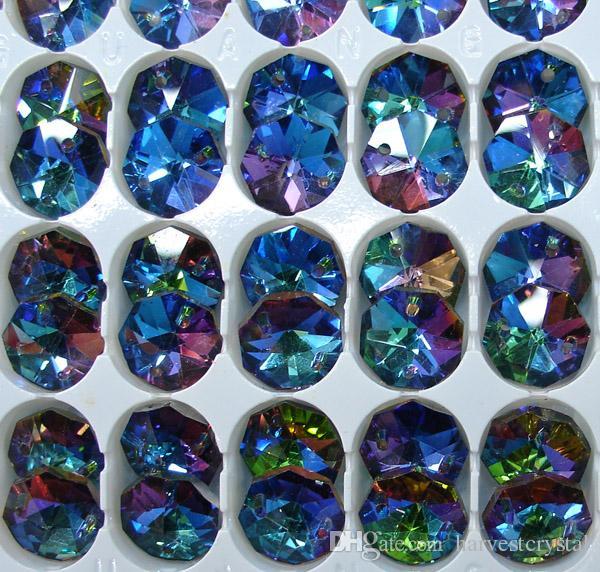10PCS Crystal Baroque Maple Leaf 38mm AB Color A-Grade Chandelier Suncatcher DIY