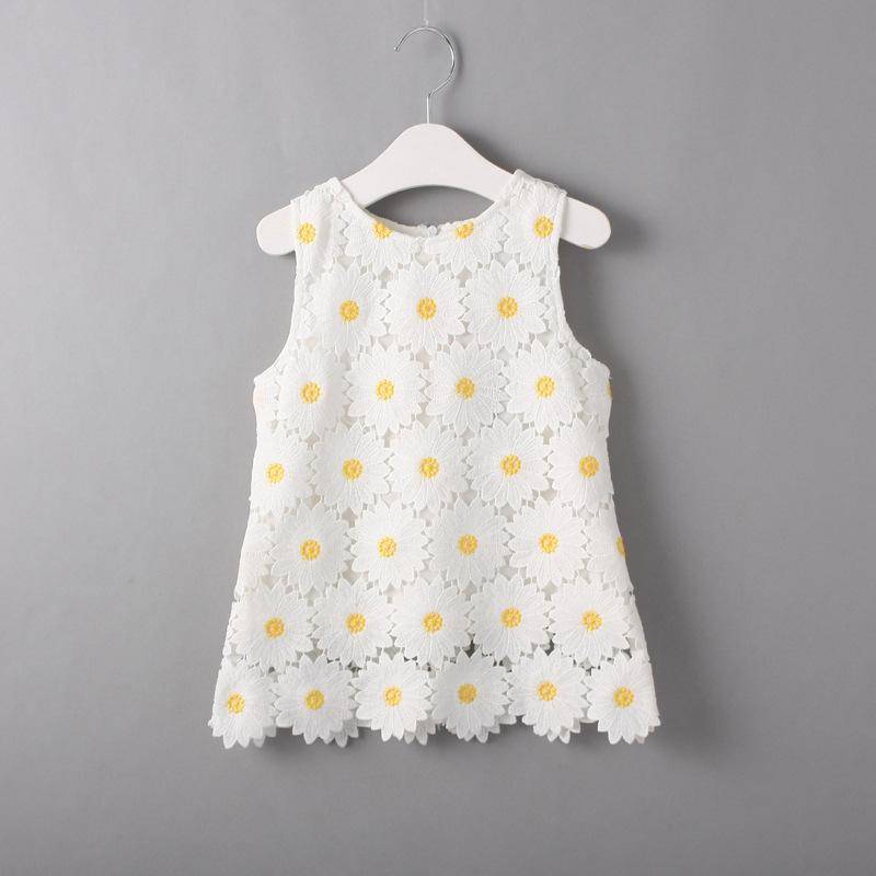 2019 Cute Toddler Lace Daisy Dress Flower Girls Dress