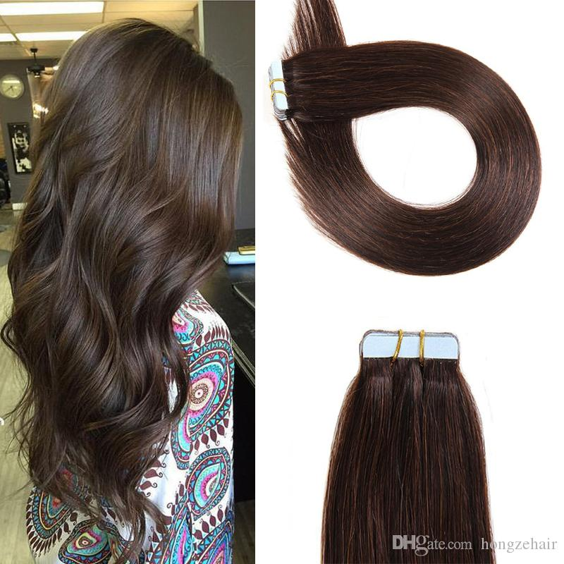 Tape In Human Hair Extensions 16 26 Inch Brazilian Virgin Human Hair