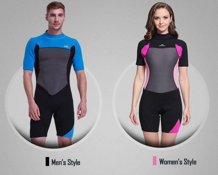 Compre Shorty Wetsuit Traje De Neopreno Premium De Neopreno De 2 Mm Traje  De Manga Corta Para Buceo 74b658d7fa3