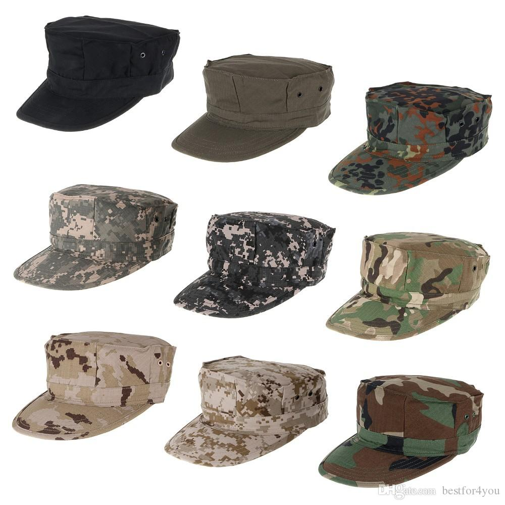 Camouflage Patrol Cap Men s Military Camo Army Soldier Cap Combat Tactical  Octagonal Hunting Sun Hat For Outdoor Camping Hiking Sun Hat Combat Hat  Patrol ... 58e2da67dc0a