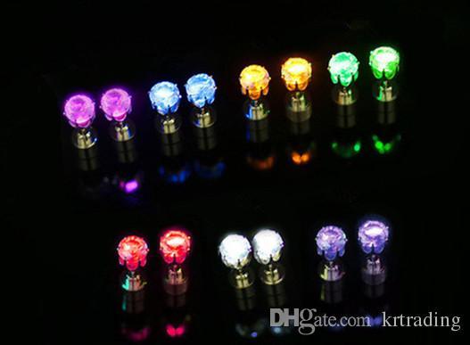 Multicolor Flash Led Earrings Luminous Ear Rings for Xmas Festivals Ball Party Concert Performace Bar Dancing Props