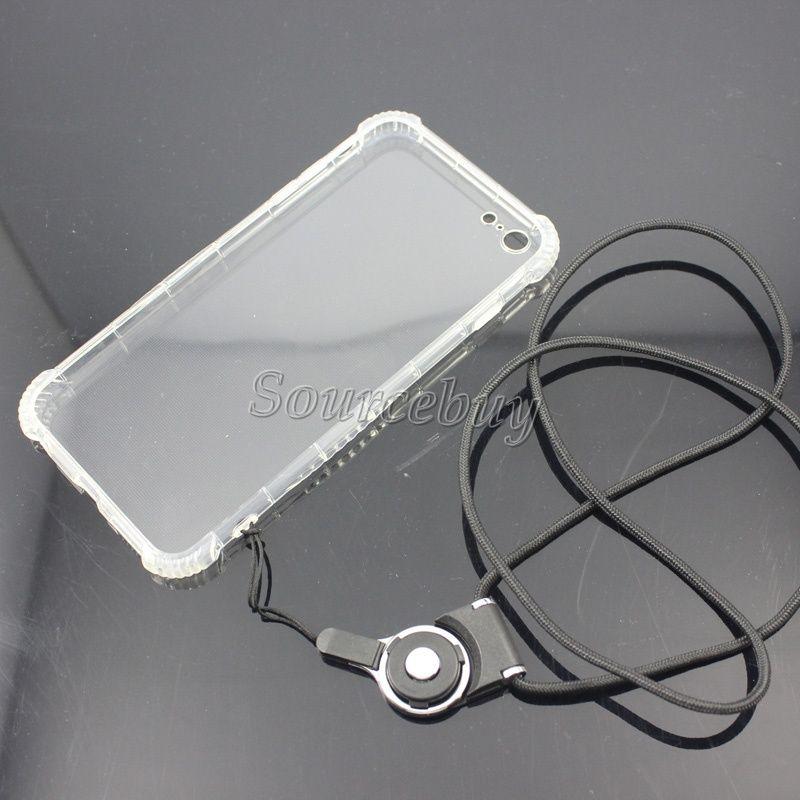 Sıcak satış Dönebilen Ayrılabilir Yüzük Boyun Askısı İpi Uzun Desingh Asmak Halat Cep Telefonu Kamera iPad mp3 için USB Flash Toka Plastik Halat