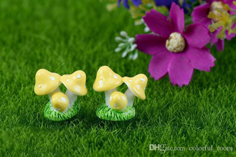 mushroom fairy garden miniatures gnomes moss terrarium artificial home decoration for home decor DIY Zakka