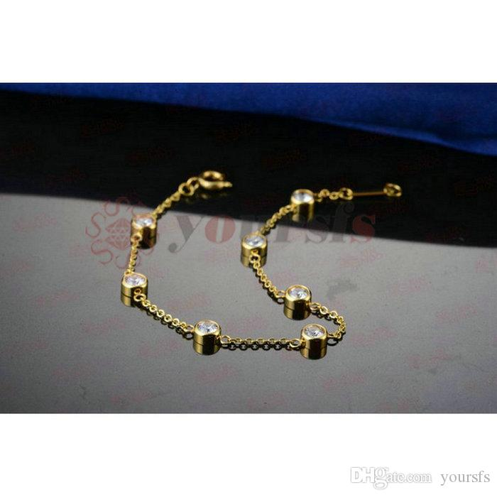 Yourfs Gold Color Infinity Charm Ketting Armband Oorbellen Set Titanium Staal Rvs Infinity Sieraden Party Sieraden Sets