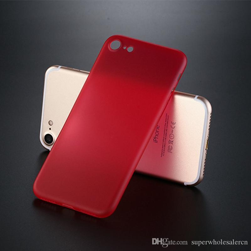 Amvykal Para iphone XR X XS Max SE 5 6 7 8 Plus Processo 0,3 milímetros ultra-fina macia PP Transparente Fosco capa protetora