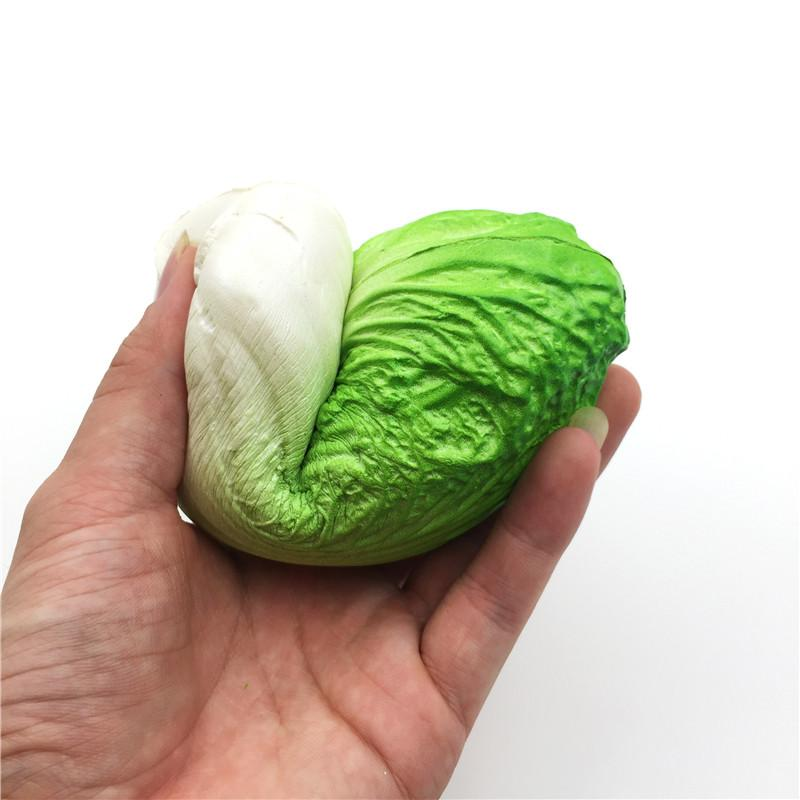 Slow Rising Cabbage Vegetables Squishy 15CM Soft Bread Squishies Cream Bun Stress Ball Scented Kids Toy Gif
