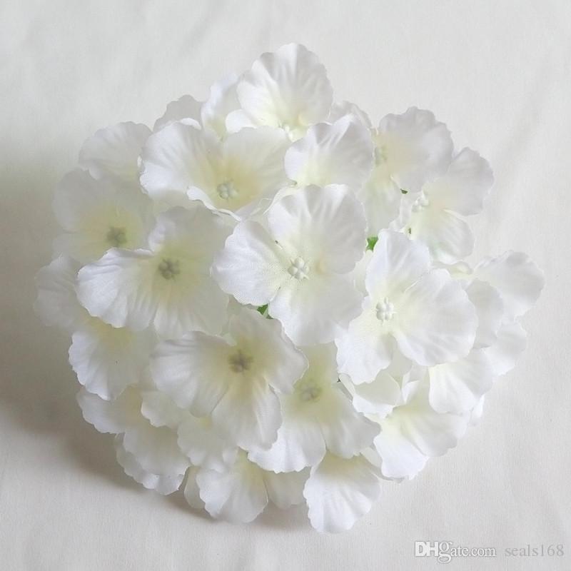 2017 Yapay Çiçekler Ortanca Çiçek Başları Düğün Dekorasyon Malzemeleri Simülasyon Sahte Çiçek Baş Ev Dekorasyonu HH7-165