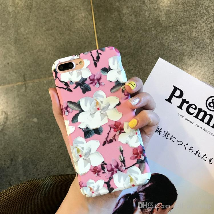 For Iphone 8 Phone Cases Retro Flowers Literature And Art Creative PC All-Inclusive Hard Cell Phone Case For Iphone 6 7 X Plus