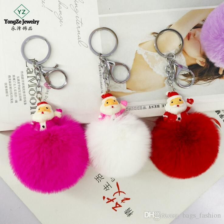 Puff Ball KeyChains Cute Bird KeyChains Kids Womens Personalised Rings  Android KeyChains Car Bag Santa Claus Key Chain UK 2019 From Bags fashion 2d3923f57