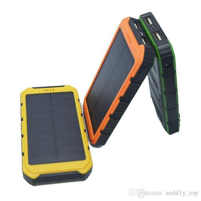 Prezzo di fabbrica! Banca di energia solare romanzo 20000mAh Banca di energia solare ultrasottile impermeabile 2A Caricatore portatile del telefono cellulare dell'uscita iPhone 7