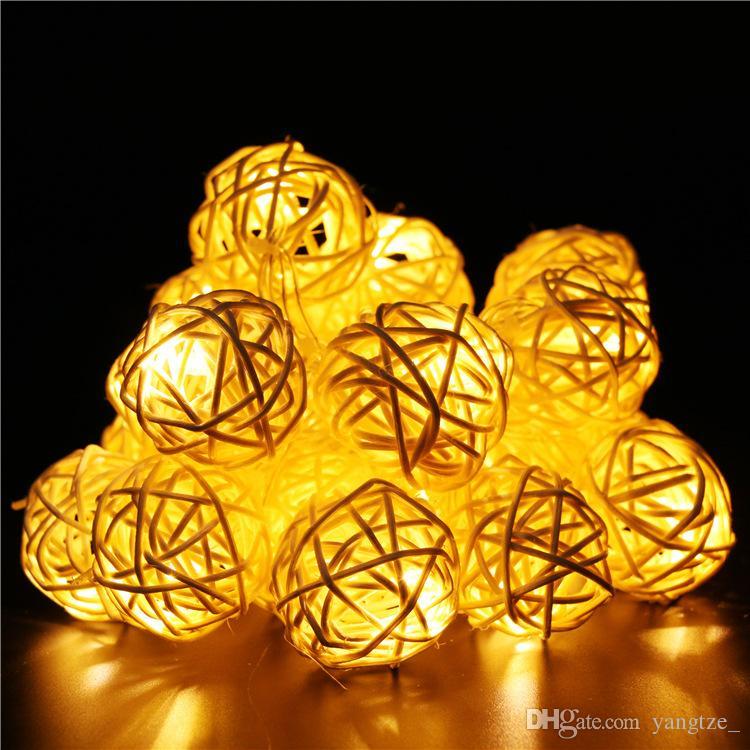 Cheap Led Thai Rattan Ball Small Colored Lamp Lights The Halloween ...