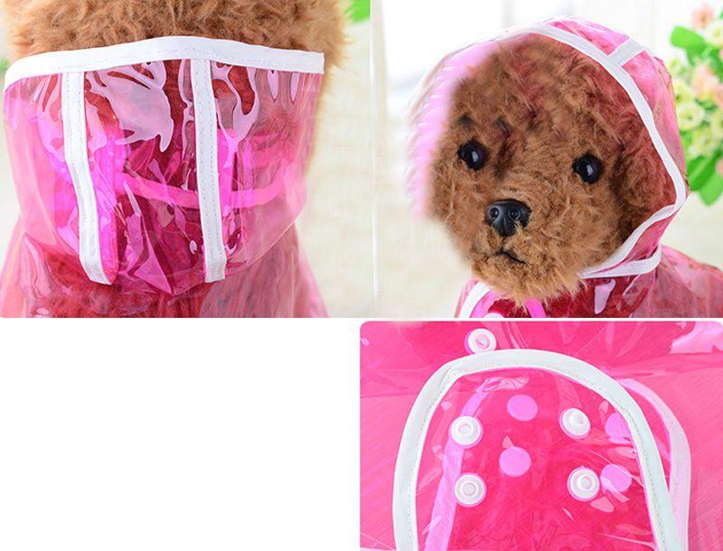 O filhote de cachorro exterior do revestimento do cão da capa de chuva do casaco de chuva do animal de estimação do animal de estimação veste transparente impermeável