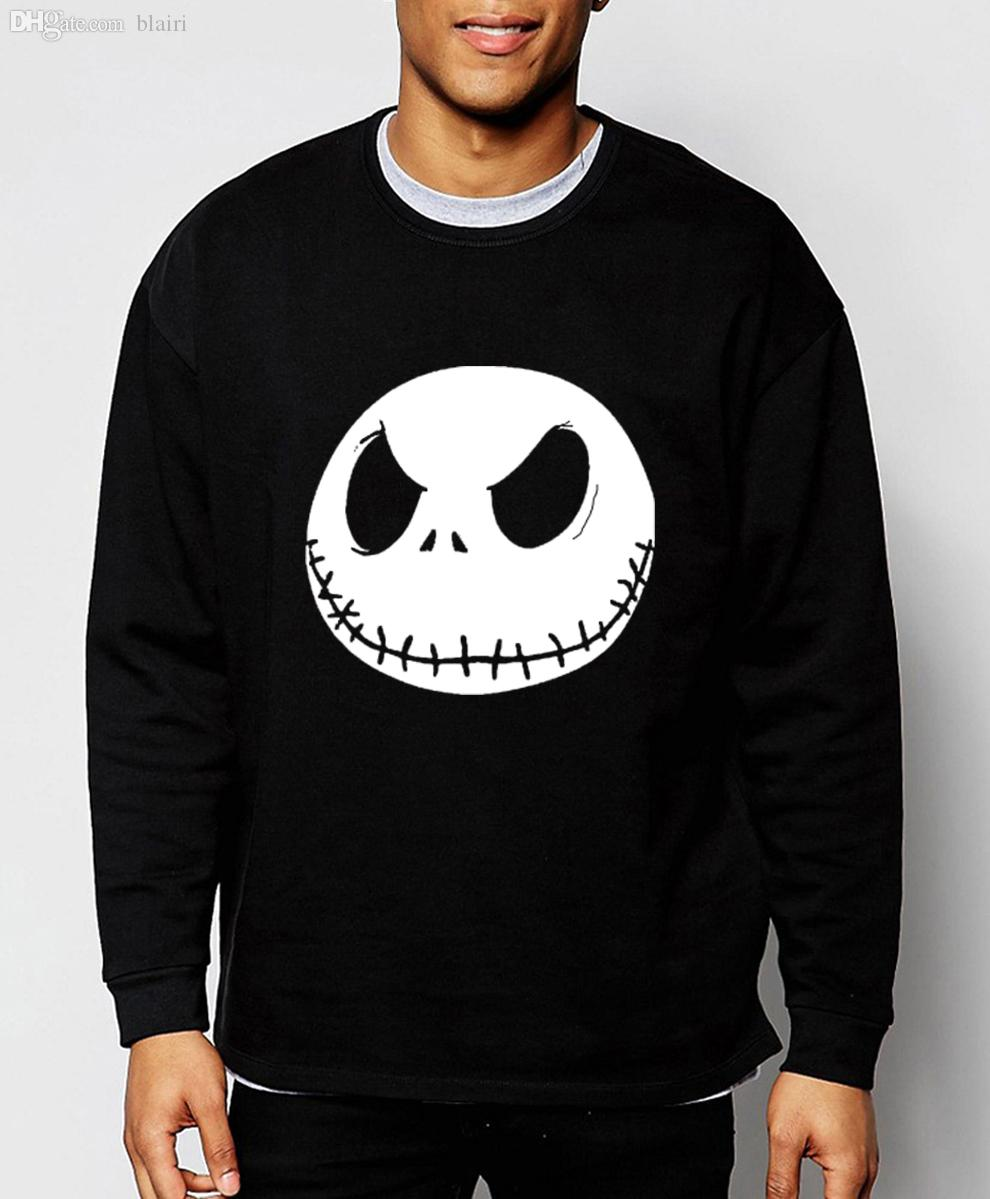 035dd4168f7d5 2019 Wholesale Nightmare Before Christmas 2016 Autumn Winter Jack  Skellington New Mens Sweatshirts Streetwear Hip Hop Hoodies Brand Clothing  From Blairi, ...
