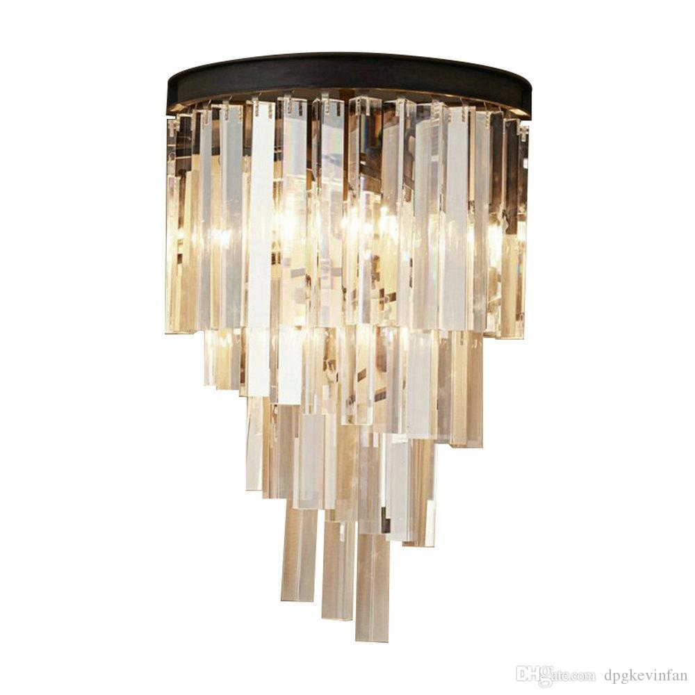 2019 modern crystal wall lamps led lights fixtures house lighting crystal for bathroom home bedroom crystal wall sconces e14 lamp from dpgkevinfan