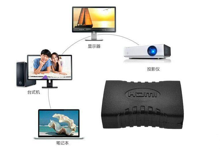 HDMI HDMI Erkek Adaptör Siyah çoğaltıcı F / F Extender Adaptör Konnektör 1.4 1080p DY