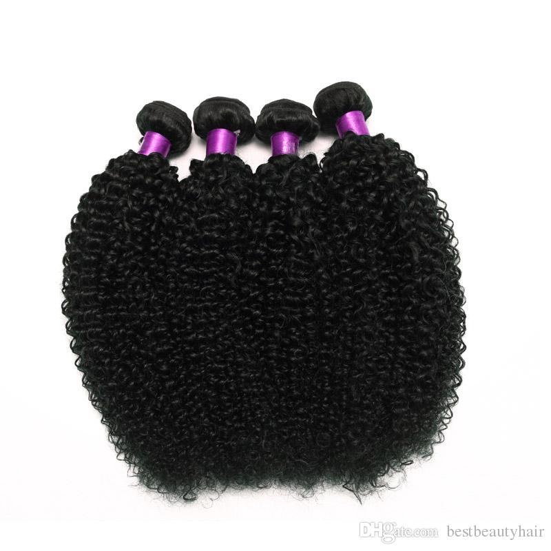 4 adet Moğol Brezilyalı Kinky Kıvırcık Saç Dokuma Paketler Afro Moğol Kinky Kıvırcık İnsan Saç Uzantıları Brezilyalı Kinky Kıvırcık Saç atkıları