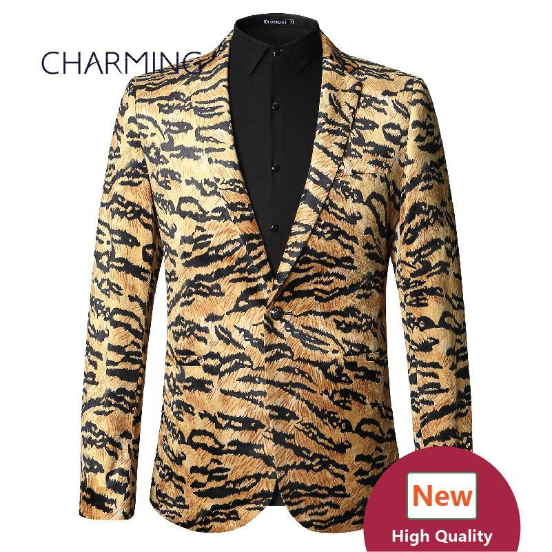 Tiger Grain Texture Mens Tan Suit High Quality 3D Digital Printing Gold  Velvet Fabric Wholesale Groom Mens Modern Suits Mens Tan Suit Groom Mens  Modern ... d5e835f1a