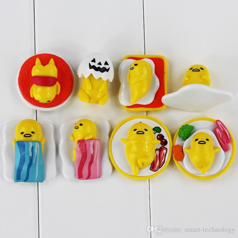 Mignon Gudetama Yolk Juin PVC Figure PVC Modle collectable jouet pour enfants cadeau 2.5-4.5cm / livraison gratuite