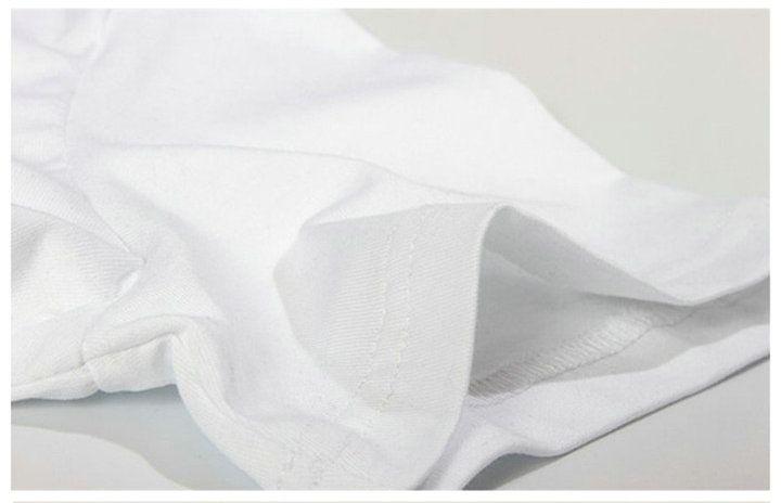 Tabii t gömlek Serin kesinlikle kısa kollu tişört Büyük sözler Unisex giyim Saf pamuk tişört cüppe basmak başında