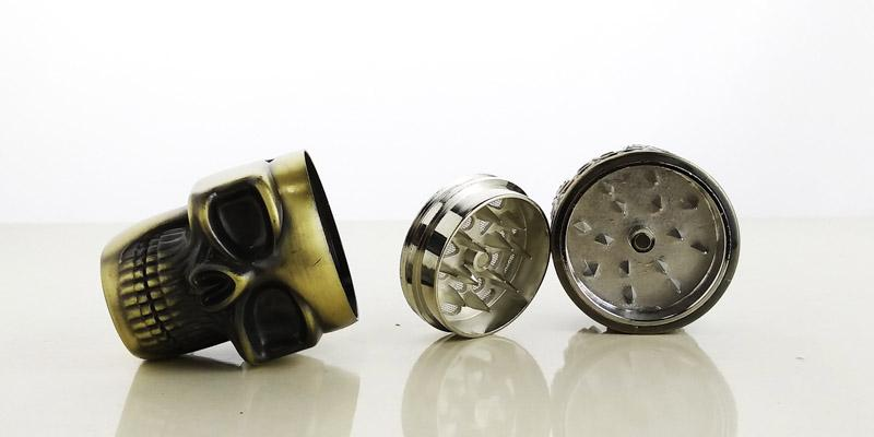 Crânio Dente 3 Peças Moedores De Tabaco Herb Grinder Grinder Fumar Metal Herb Vaporizador 45mm
