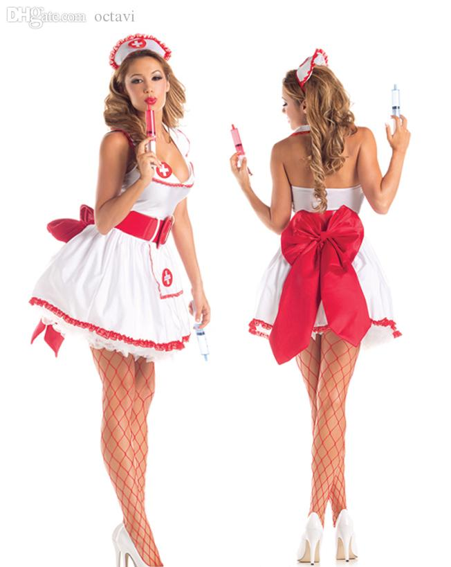 2b7e4a09f102d Wholesale-Fantasy Party Sexy Nurse Costume Flirting Women Outfit Halloween  Fantasias Womens Role Play Games Game Figure Costume Joker Sexy Online with  ...
