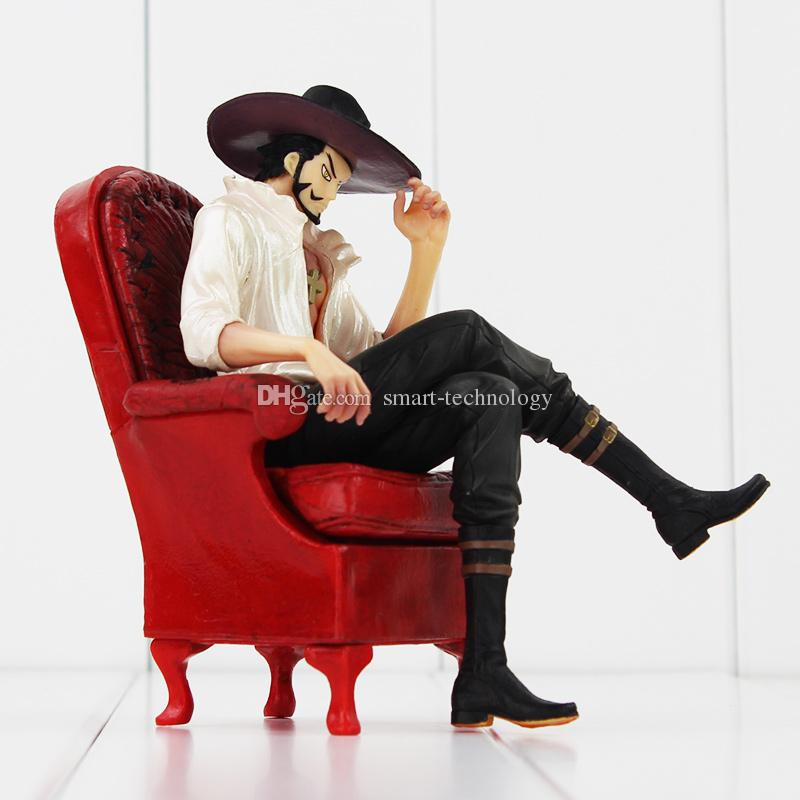 Anime One Piece Dracula Mihawk Seat on the Sofa PVC Action Figure Collectable Model Toy retail