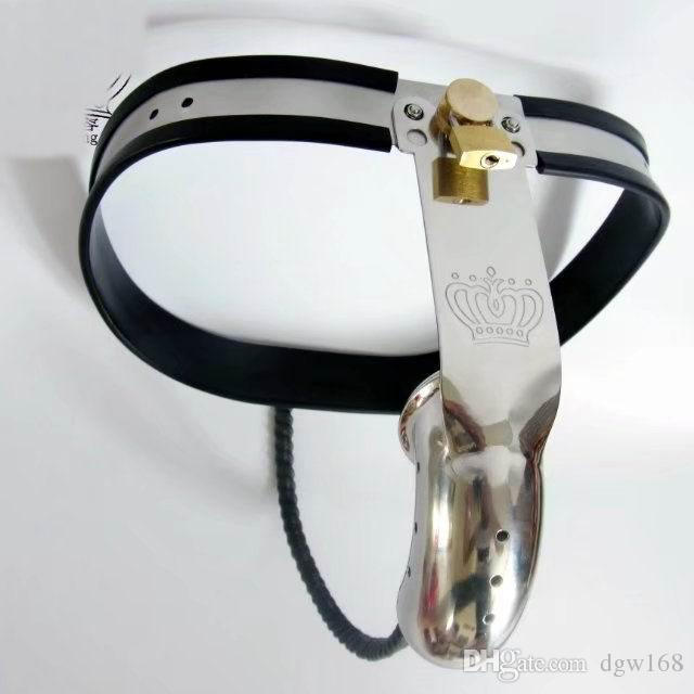 Newest Male Fully Adjustable Model-T Stainless Steel Premium Chastity Belt with Hole Cage Cover BDSM Sex Toys BM330