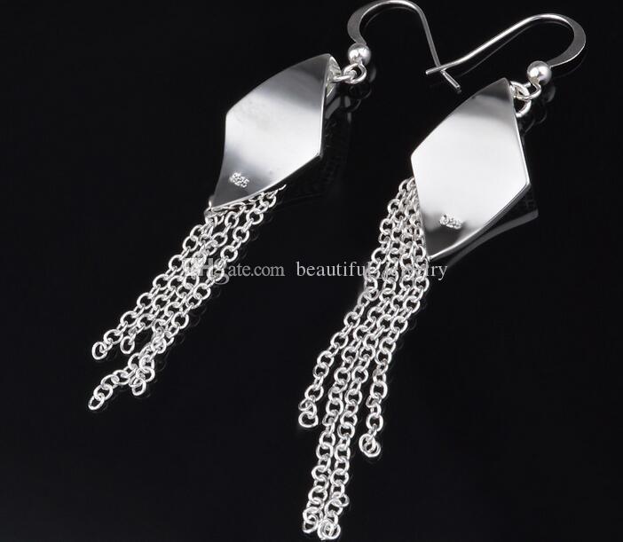 Heiße verkaufende hohe Qualität, die 925 silberne Ohrringe für Frauen-Art- und Weiseschmucksache-Charme-Quasten-Ohrringe mischt Mischauftrag 20 Art /