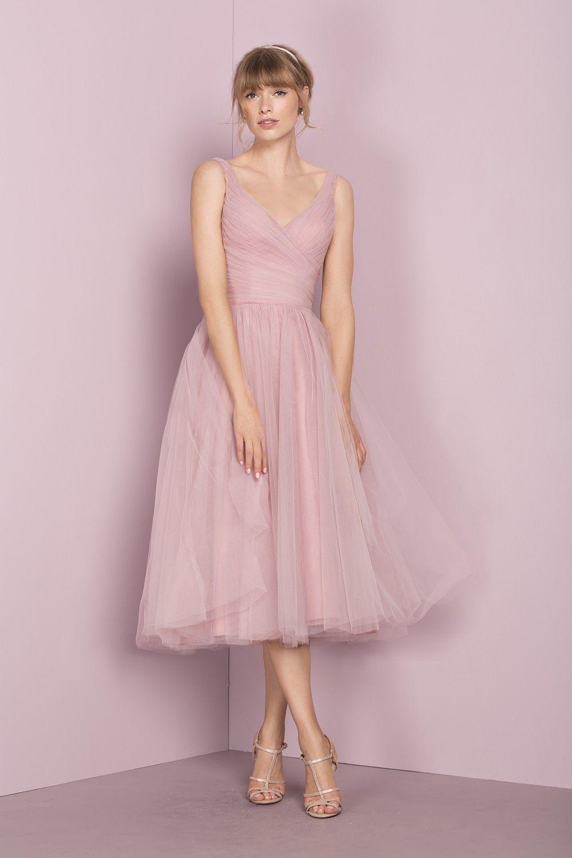 Дешевые Розовые Тюль Платья Невесты V Декольте Без Рукавов Pleats Kelseyrose 2019 Горячей Продажи Свадебное Платье для Гостей